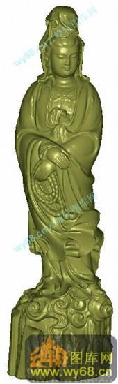 慈爱观音-立体雕刻图