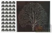 2011设计艺术玻璃刻绘-冰雕发财树-装饰玻璃