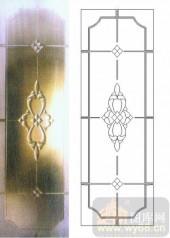艺术玻璃图库-浮雕贴片-花纹-00039