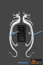 01-双龙-070-浮雕灰度图