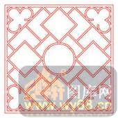 镂空装饰单式001-湘文-镂空装饰单式001-021-镂空雕花矢量图