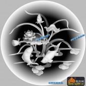 鱼图-荷花-024-蝙蝠鱼浮雕图库