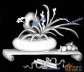 古董架002-幽兰-009-古董架浮雕图库