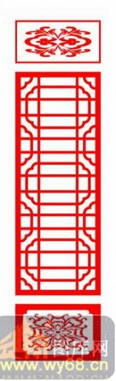 镂空装饰单式002-花卉花纹-镂空装饰单式002-006-镂空雕刻模板下载