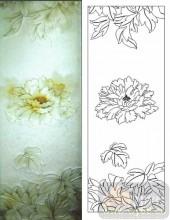 05肌理雕刻系列样图-牡丹花-00155-雕刻玻璃