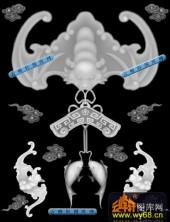 鱼图-蝙蝠鱼-039-蝙蝠鱼灰度图案