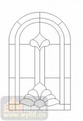 喷砂玻璃-12镶嵌-几何花纹-00003