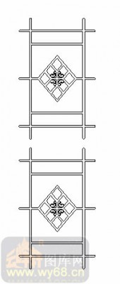 喷砂玻璃-02单门(2-1)-窗花-00042