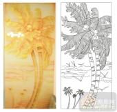 2011设计艺术玻璃刻绘-黄金海岸-艺术玻璃