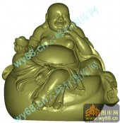 元宝弥勒-立体雕刻图