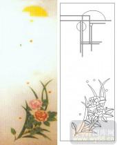 05肌理雕刻系列样图-花卉-00079-雕刻玻璃