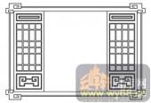 镂空装饰组合式-古典窗扇-镂空装饰组合式-033-中式花纹