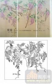 肌理雕刻系列1-紫藤花-00001