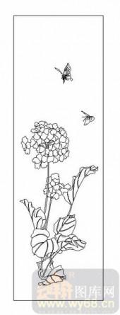 04花草禽鸟-傍花随柳-00075-雕刻玻璃图案
