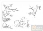 04花草禽鸟-玩乐-00029-喷砂玻璃图库