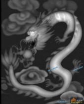 草龙-飞龙-052-浮雕灰度图