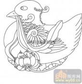 100个中国传统吉祥图-矢量图-鸳鸯-B-020-矢量图案