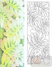 艺术玻璃图-肌理雕刻系列1-巴掌绿-00023