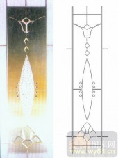 雕刻玻璃-浮雕贴片-花纹-00066