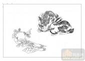 03动物系列-兔子蔬菜-00017-雕刻玻璃