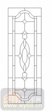 艺术玻璃图-12镶嵌-几何花纹-00023
