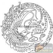 100个中国传统吉祥图-矢量图-凤歌鸾舞-B-014-中国图片