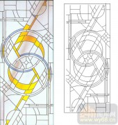 06欧式装饰系列样图-圆圈花纹-00012-艺术玻璃图库