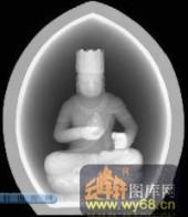 小佛-佛陀-003-玉雕灰度图案