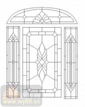 装饰玻璃-12镶嵌-欧式花纹-00050