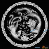 龙凤图-龙凤呈祥-011-浮雕灰度图
