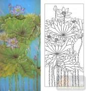 艺术玻璃-肌理雕刻系列1-映日荷-00021