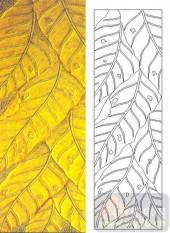 05肌理雕刻系列样图-叶子-00123-喷砂玻璃