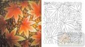 雕刻玻璃-肌理雕刻系列1-红枫-00072
