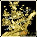 牡丹花鸟-中式图案浮雕图库