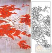 05肌理雕刻系列样图-红枫叶-00120-装饰玻璃