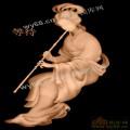 仕女吹箫-人物典故精雕图案