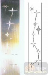 喷砂玻璃-浮雕贴片-星星-00091