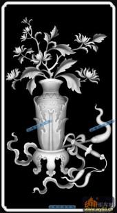 04-花瓶-060-花鸟浮雕图库