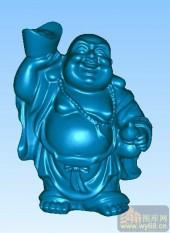 携葫老佛-立体雕刻图