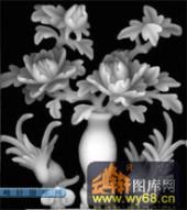 多宝格-花瓶-007-多宝格灰度图案