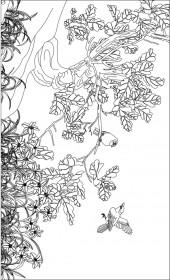横版4,玉兰花