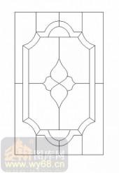 雕刻玻璃-12镶嵌-艺术花纹-00014