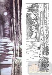 喷砂玻璃图库-肌理雕刻系列1-夜林-00093