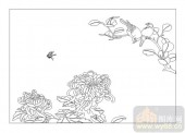 04花草禽鸟-闭月羞花-00044-艺术玻璃