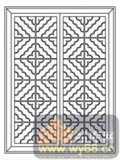 镂空装饰组合式-艺术花纹-镂空装饰组合式-012-镂空矢量图