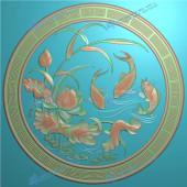 精品鲤鱼戏莲挂匾图6个