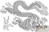 龙-白描图-凤舞龙飞-long60-龙图片