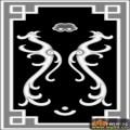 草凤凰 花纹-欧式洋花浮雕灰度图