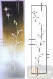 玻璃雕刻-浮雕贴片-花藤-00094