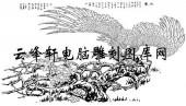 名家画鹰-矢量图-ba鹰咏-鹰雕刻图